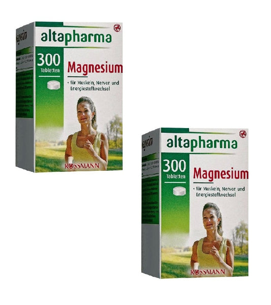 2x Packs Altapharma 300 Magnesium Tablets Dietary Supplement - Eurodeal.shop