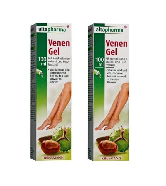 2x Packs Altapharma Veins Gel with Horse Chestnut Extract & Eucalyptus - Eurodeal.shop