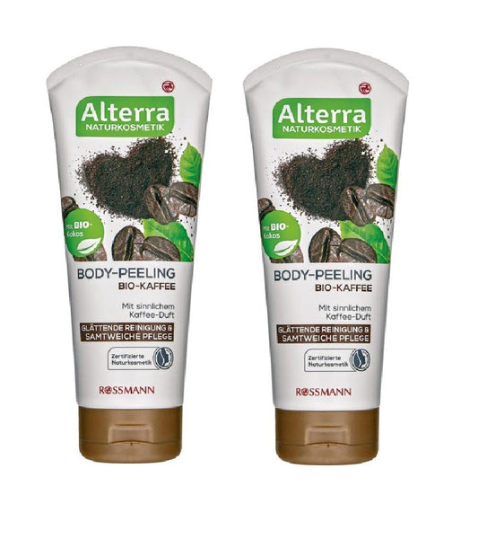 2xPack Alterra Organic Coffee Body Peeling Cleansing Gel - 400 ml