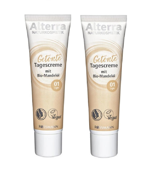 2xPack Alterra Tinted Day Cream Light Or Medium - 60 ml