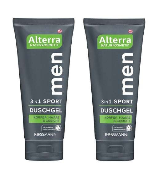 2xPack Alterra 3 in 1 Sports Shower Gel for Men - 400 ml