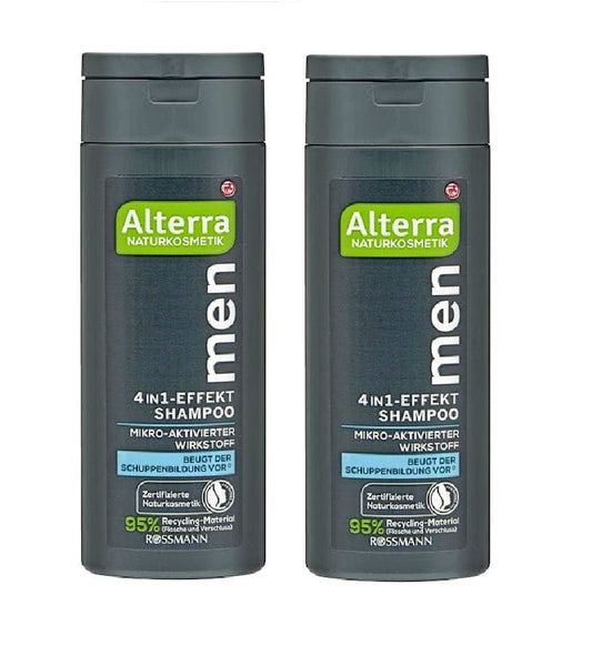 2xPack Alterra 4-in-1 Effect Shampoo for Men - 400 ml