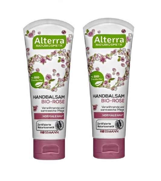 2xPack Alterra Organic Rose Hand Balm - 150 ml