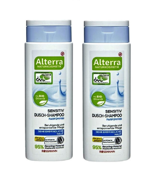 2xPack Alterra Sensitive Shower Shampoo, Fragrance-free - 500 ml