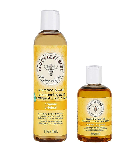 BURT'S BEE Baby Duo for Naurally Cleanse and Moisturize Delicate Baby Skin