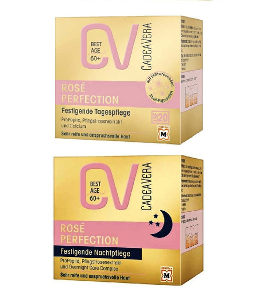 CV (CadeaVera) Best Age ROSÉ PERFECTION Day and Night Skin Firming Cream Set