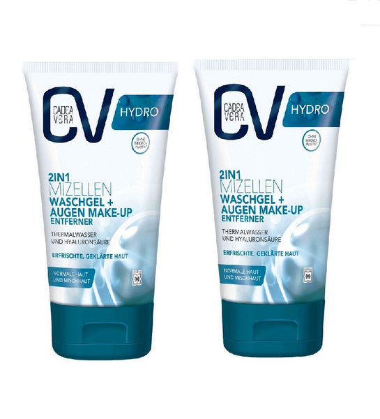 2xPack CV (CadeaVera)  HYDRO 2in1 Micelles Wash Gel + Eye Makeup Remover