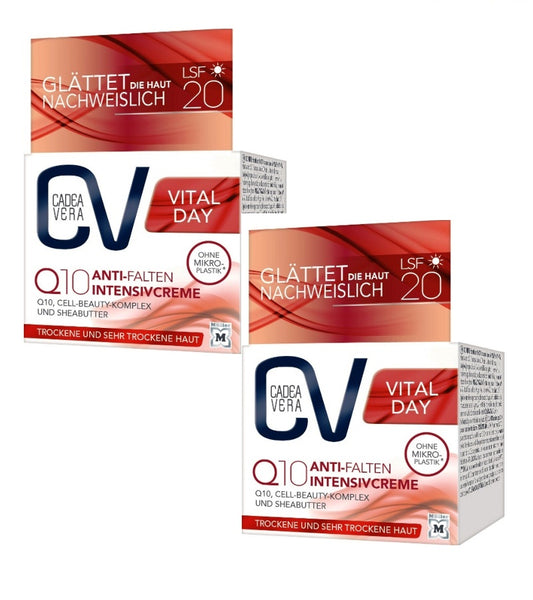 2xPacks CV (CadeaVera) VITAL Day Q10 Anti-Wrinkle Intensive Cream *NEW*