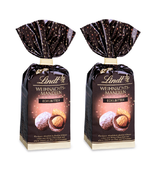 2xPack Lindt Christmas Bitter Almonds 70% - 200 g