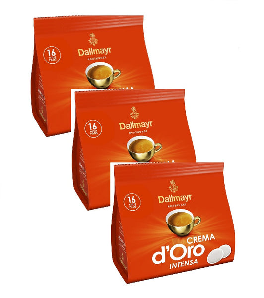 3xPack Dallmayr Crema d'Oro Intensa Coffee Pads - 48 Pads