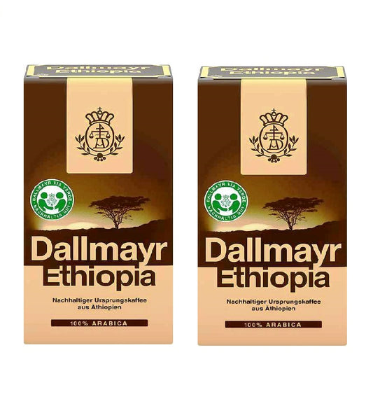 2xPacks Dallmayr Ethiopia Ground Arabica Highland Coffee - 1 kg