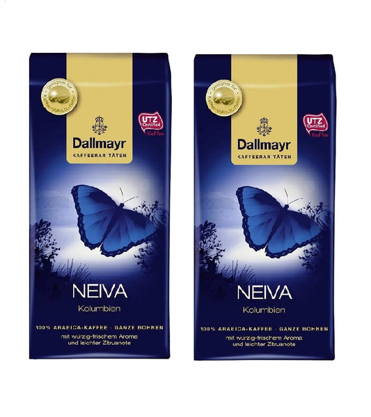2xPack Dallmayr Neiva Colombia Coffee Ground Spicy Fresh Aroma - 500 g