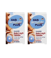 2x Pack DAS Gesunde PLUS Biotin 5 mg N Tablets (120 pcs) - Eurodeal.shop