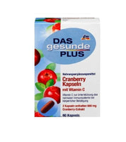 Das Gesunde PLUS Cranberry Capsules with Vitamin C, 60 pieces - Eurodeal.shop