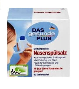 DAS Gesunde PLUS,Nasal Rinse Salt Pouch + 60 packs Sodium Chloride - Eurodeal.shop