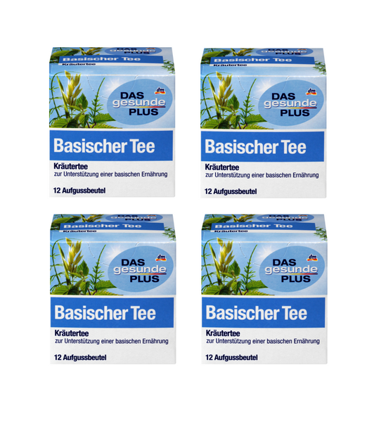 4x Packs Das Gesunde PLUS Basic Alkaline Herbal Tea - 48 Bags - Eurodeal.shop
