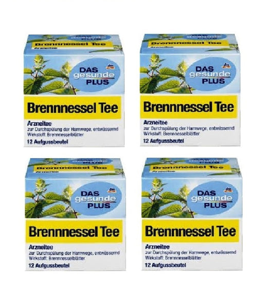 4x Pack Das Gesunde PLUS Bladder & Kidney Medicinal Tea - 48 Bags - Eurodeal.shop