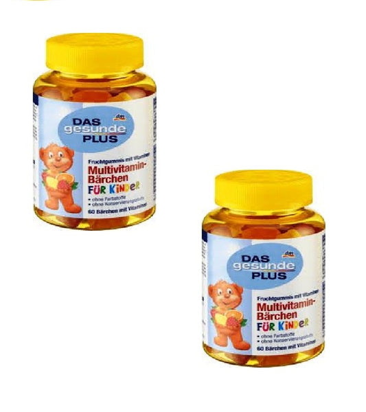 2x Pack DAS Gesunde PLUS Children's Multivitamin-Bärchen Fruit gums - Eurodeal.shop