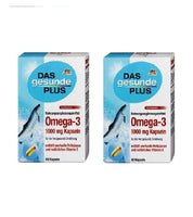 2x Pack DAS Gesunde PLUS Omega-3 1000 mg capsules, 120 pcs - Eurodeal.shop