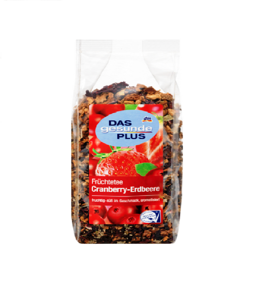 Das Gesunde PLUS Cranberry Strawberry Fruit Tea, Loose, 200 g - Eurodeal.shop