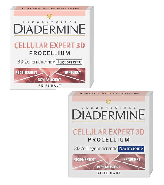Diadermine Lift+ Ultra Protect Day Care + Detox Night Care Cream Set