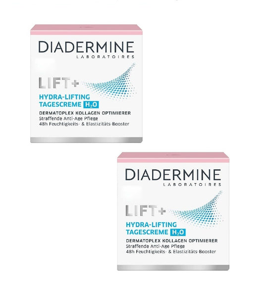 2x Packs Diadermine LIFT+ H2O Hydrating Anti-Age Day Cream