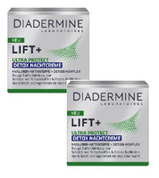 2xPack Diadermine Lift+ Ultra Protect Detox Night Creams