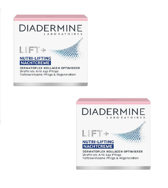 2x Packs Diadermine LIFT+ Nutritive Anti-Age Night Cream - Eurodeal.shop