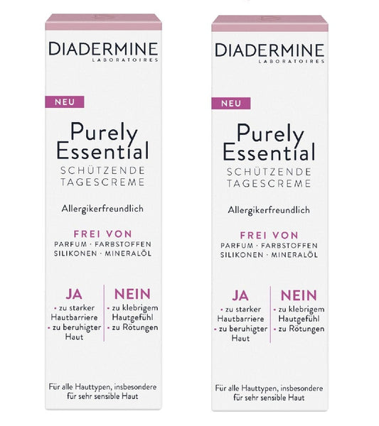 *NEW* 2xPack Diadermine Purely Essential Protective Day Cream
