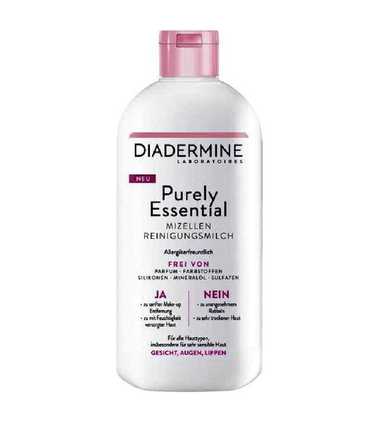 *NEW* Diadermine Purely Essential Micelles Cleansing Milk 400 ml