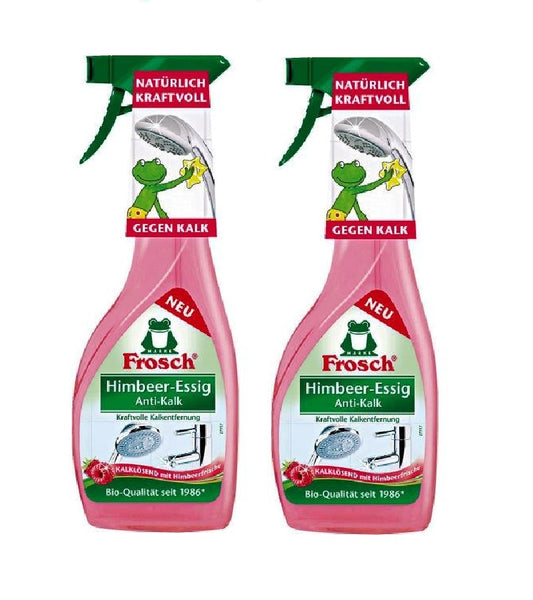 2xPack Frosch Anti-Limescale Raspberry Vinegar Spray - 1.0 Ltr