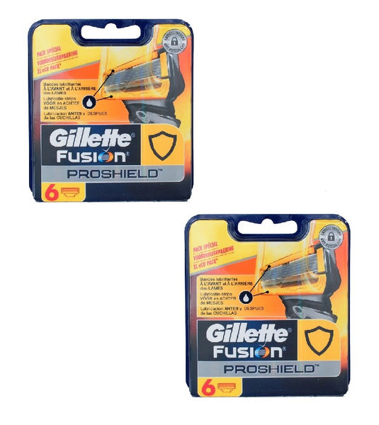 2xPack Gillette Fusion ProShield - 12 Cartridges