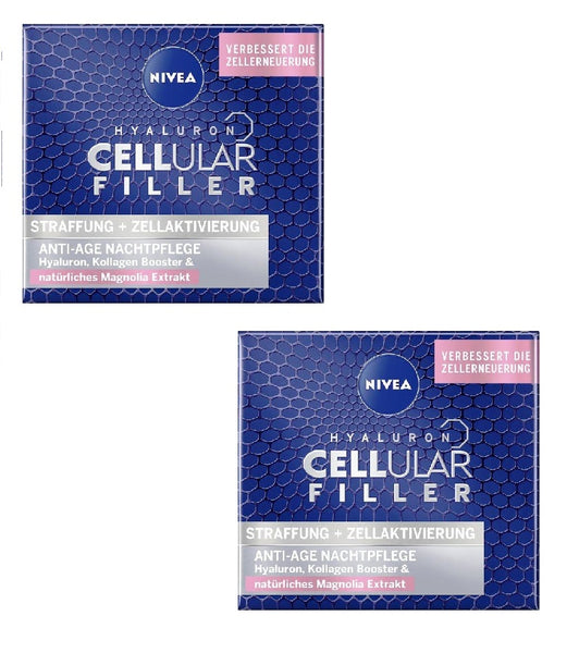 2xPack Nivea Cellular Hyaluron Anti-Age Filler with Collagen Night Cream