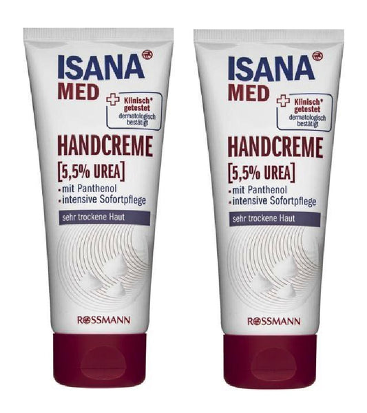 2xPack ISANA Med Hand Cream 5.5% Urea - For Very Dry Skin 100 ml each