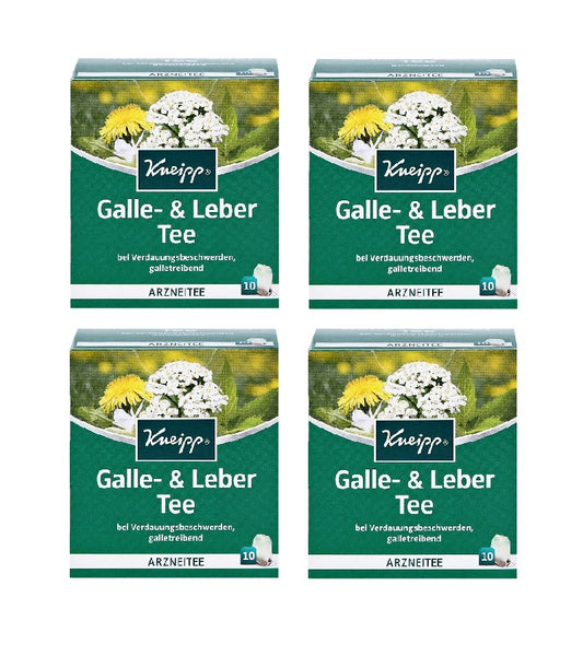 4xPack Kneipp Gallbladder and Liver Treatment Tea - 40 Bags