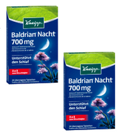2xPack Kneipp Valerian Night 700mg Tablets, 60 Pieces