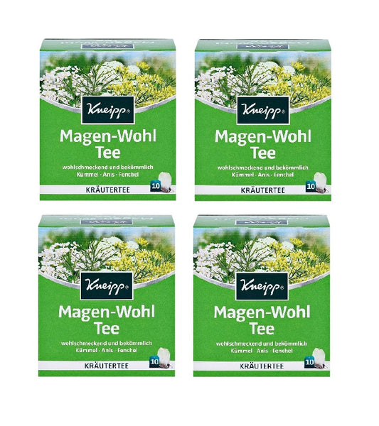 4xPack Kneipp Stomach Well Tea for Digestion and General Treatment - 40 Bags