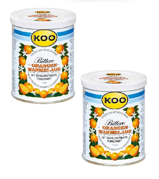 2xPack KOO Seville Orange Fine Cut Marmelade from South African Oranges
