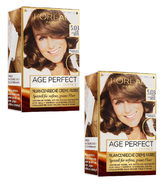 2xPack L'ORÉAL PARIS Excellence Age Perfect Hair Color - 7 Varieites