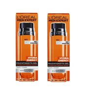 2x Pack L'Oreal Men Expert Hydra Energy Moisturizing Gel with Caratinp - Eurodeal.shop