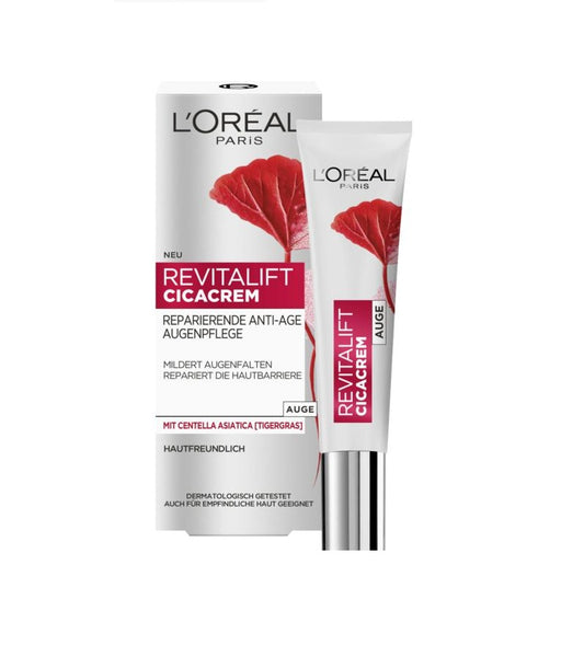 L'Oreal Paris Revitalift Revitalift CicaCrem Repairing Anti-Age Eye Care - 15 ml - Eurodeal.shop