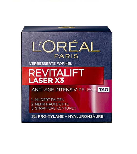 "L'Oreal Paris Revitalift Laser X3 Anti-Age Intensive Care ""Day"" Cream - 50 ml - Eurodeal.shop"