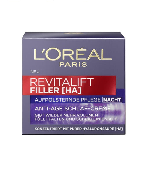 L'Oreal Paris Revitalift Filler [HA] Upholstery Care Anti-Age Sleep Cream Night - Eurodeal.shop