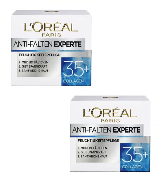 2x Pack L'Oréal Paris Anti-wrinkle Expert 35+Moisturizer Skin Collagen - Eurodeal.shop