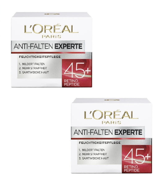 2xPack L'Oréal Paris Anti-wrinkle Expert 45+Moisturizer Smooth Skin - Eurodeal.shop