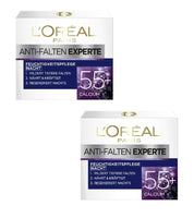 2x Pack L'Oréal Paris Anti-wrinkle Expert 55+ Moisturizer Night Cream - Eurodeal.shop