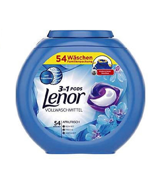Lenor All in One Pods Detergent 'APRIL FRESH' 54 WL