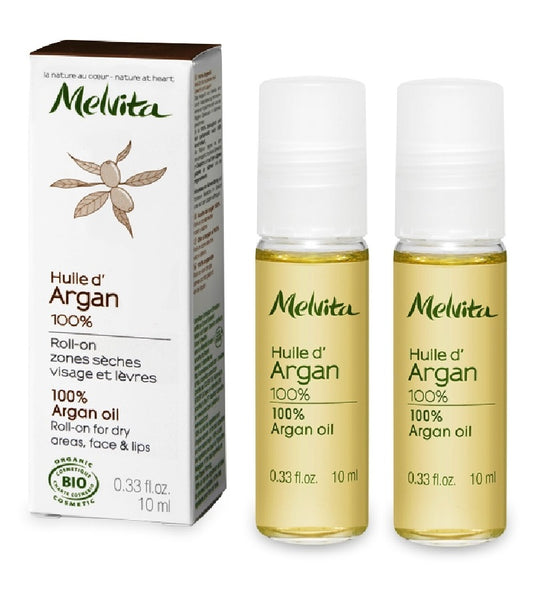 2xPack MELVITA MULTI-USE ARGAN ROLL ON FACE & BEAUTY OIL - 20 ml