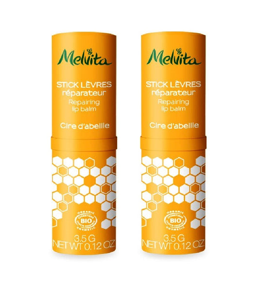 2xPack Melvita Organic Lip Balm Sticks: ARGAN - ROSE - HONEY - 7g