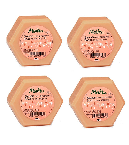 4xPack Melvita ORGANIC SOAP WITH PROPOLIS HONEY- 400 g